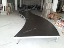 Aluminum S-shaped stage