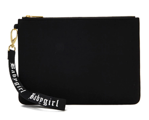 Black Zip Pouch Makeup Bag