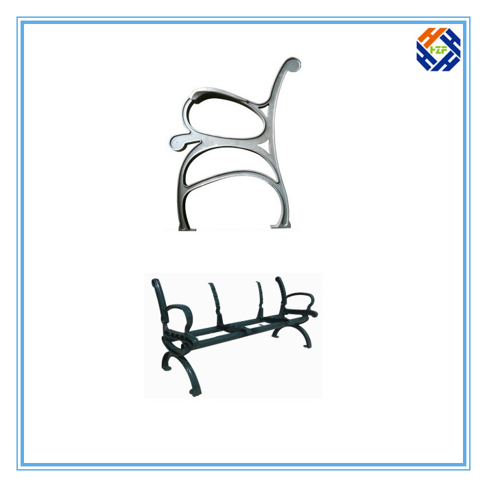Garden Bench End Outdoor Furniture by Die Casting Processing-3