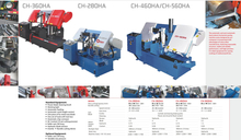 CH SERIES DOUBLE COLUMN FULLY AUTOMATIC BAND SAWS CH-280HA-CH360HA-CH460HA-CH560HA