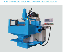 CNC UNIVERSAL TOOL MILLING MACHINE MANUALLY XKF8140