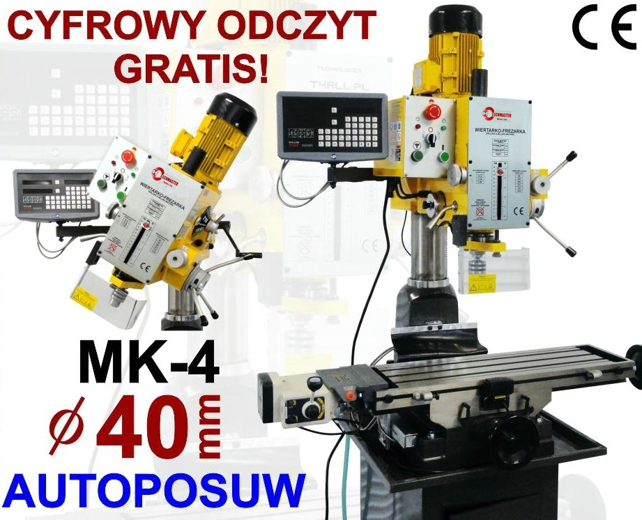 FULLY INDUSTRIAL DRILLING AND MILLING MACHINE VARIO SPEED ZAY7040V
