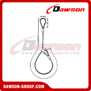 WS71-EED Fulgish Eye Splice Wire Rope Slings