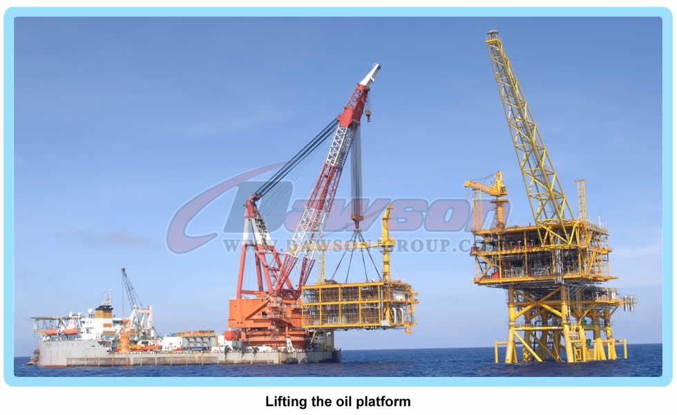 石油プラットフォームを持ち上げる