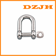 Straight D Shackle 316 stainless with Captive Pin