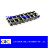 Short pitch conveyor chains with top rollers