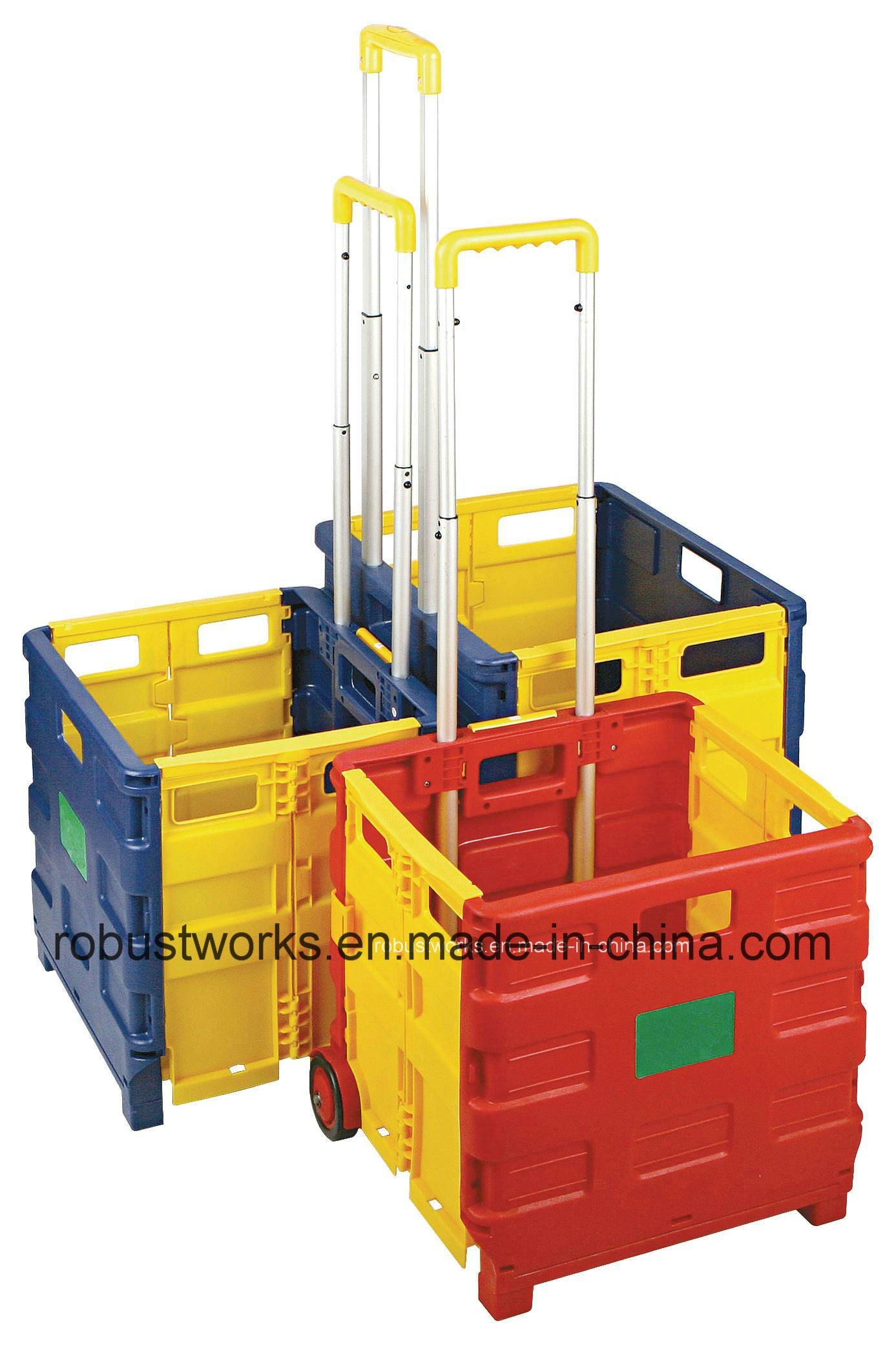 Folding Plastic Shopping Cart (FC403C-3)