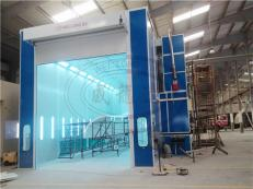 Industrial Paint Spray Booth With Air Cooling System In Bahrain