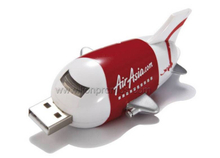 Plastic Plane Shape Airline Promotional Gift USB Flash Disk