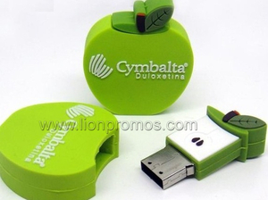 Promotional Gift PVC Custom Shape USB Flash Drie