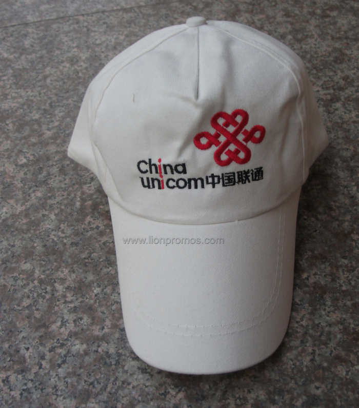 Cheap Telecom Advertising Cotton Polyester Logo Baseball Cap