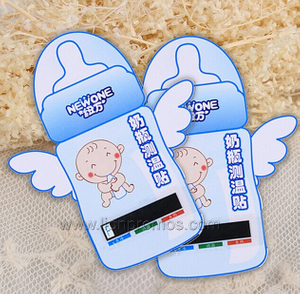 Logo Printed Baby Gifts Milk Bottle LCD Thermometer