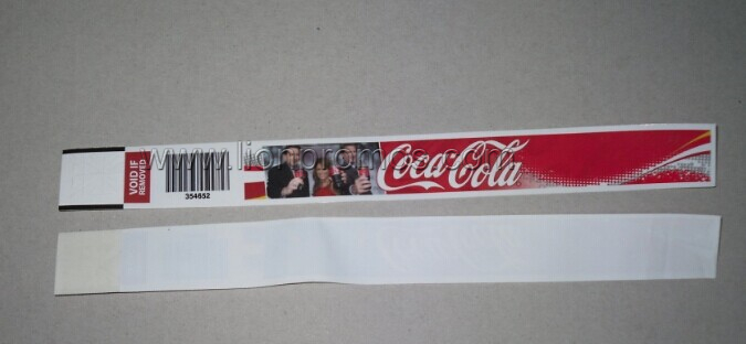 Public Campaign Concert Sports Game Membership Idification Tyvek Wrist Band