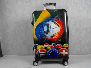Tourism Football Game Souvnir Colorful Paper Changeable Universal Wheel Strong PC Luggage Case