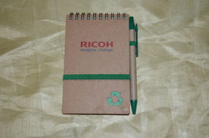 Eco Friendly Recycled Kfraft Paper Custom Printing Portbale Mini Coil Notebook with Pen