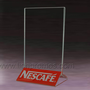 Beer Wine Sales Channel Promotional Gift Acrylic Transparent Menu Holder For Restaurant