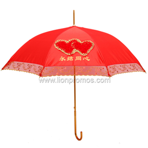 Red Decroation Wedding Umbrella