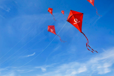 Telecome Company Gift Vodafone Logo Cheap Flying Kite