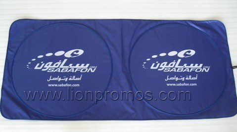 Summer Promotional Gift Car Silver Coated Fabric Sun Shade