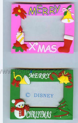 Christmas Gift Customized Shape PVC Photo Frame