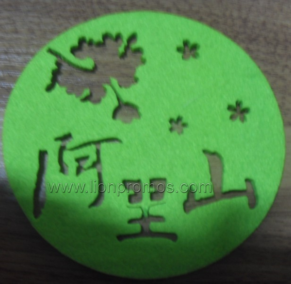 Milk Logo Laser Cutting Wool Felt Cup Mat