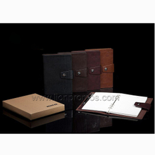 Company New year Gift PU Leather Loose Sheet Note Book