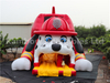 RB6106(13.8x8.2x7.6m)Inflatable Fire Dog Slide with a Helmet slide hot sales