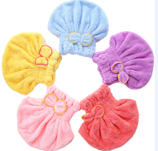 Coral Fleece Microfiber Wrap Towel for Hair