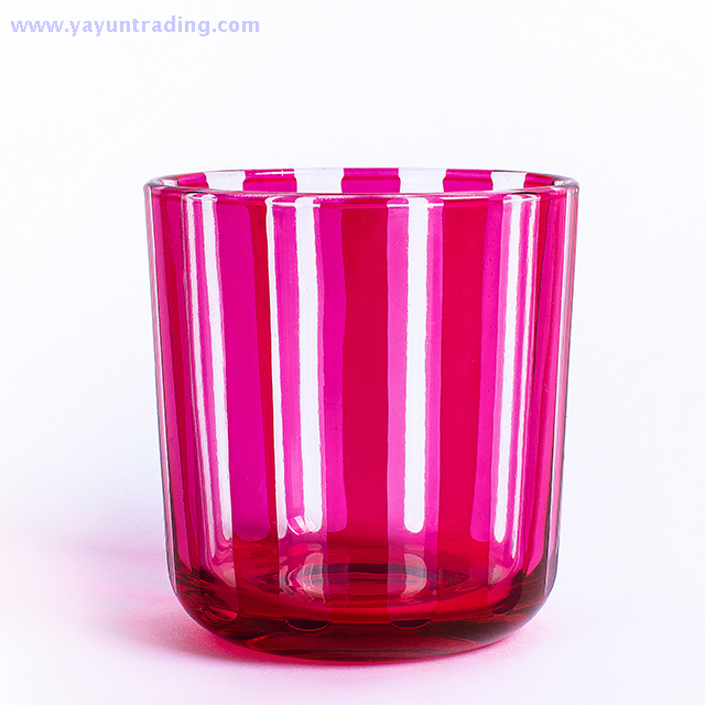 pink glass candle jar5