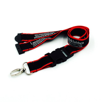 Colorful double layer reflective lanyards with metal oval hook