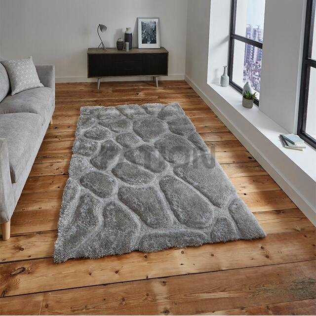 Modern 3D Effect Thick Shaggy Rugs Home Floor Carpet