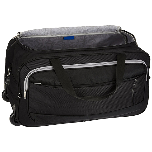 ca594015842b Light weight softsided carry-on travel trolley rolling duffle bag with  wheels for men women
