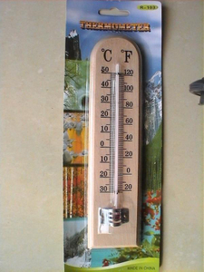 A003 Wooden Thermometer