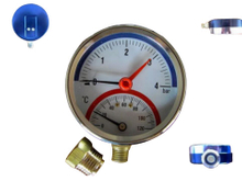 SG2027 Thermomanometer & Thermometer with Pressure Gauge