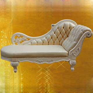 90B Leather Chaise Lounge for Living Room Furniture