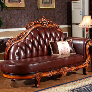 92D Wooden Chaise Lounge Chair