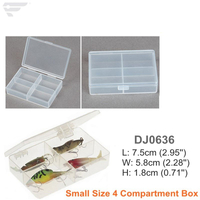 DJ0636 Small Accessories Clear Box 4 Compartment Box