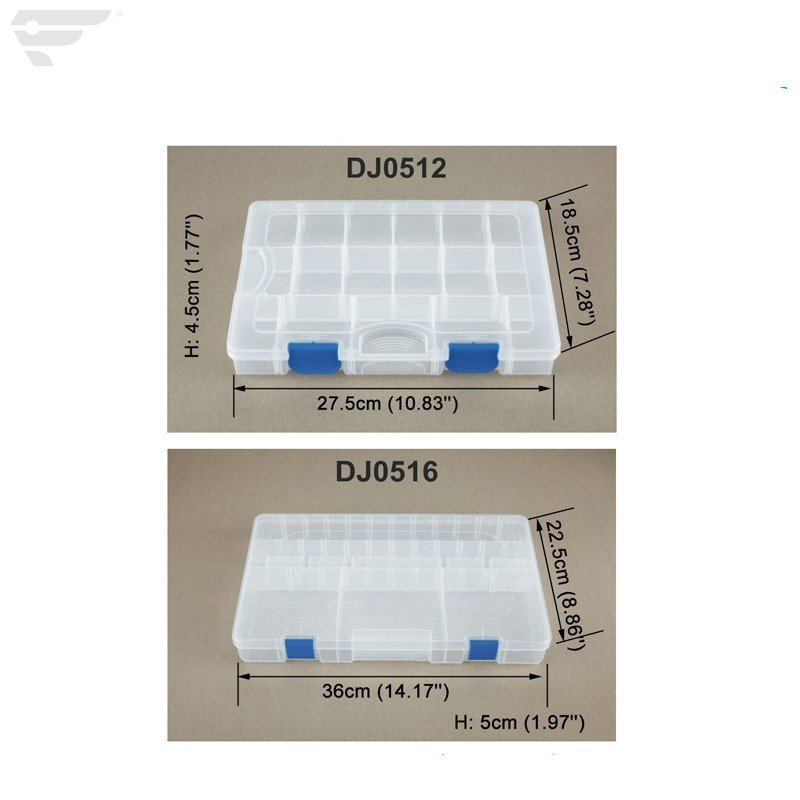 DJ0512 Clear Organized Box 17 Compartment Box
