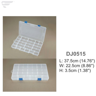 DJ0515 Clear Storage Box 22 Compartment