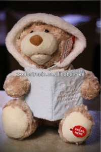 Cute Plush Singing Teddy Bear Custom Talking Dolls Custom Made Stuffed Musical Animal Toy