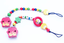 Wooden Clip for Pacifier Holder, Hot Sale Wooden Baby Pacifier Clip, High Quality Craft Bead Pacifier Clip