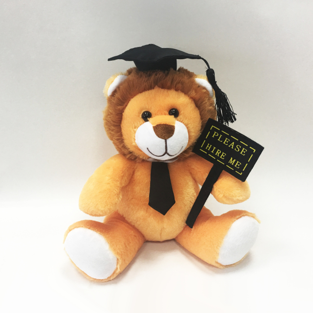 Plush Graduation lion with Doctor cap for students gift