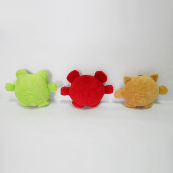 Mini Plush Animal Shaped Sound Chew Squeaker Interactive Pet Toy