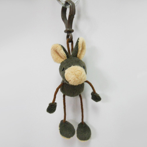 Custom Soft Plush Hare Toy Keychain