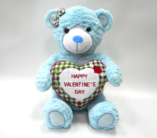 Special Valentine Blue Bear Animal Gift with Heart Plush Toys