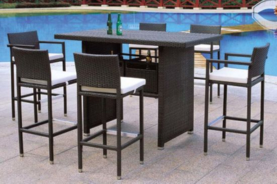 Outoor Furniture/Garde PE Rattan Furniture Bar Sets for Leisure Furniture