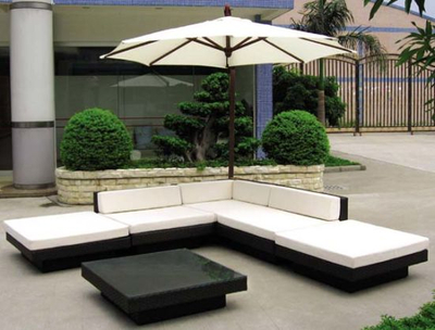 Hot Sale Black Sofa Rattan Furniture