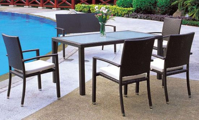 Outdoor Chairs and Table Rattan Furniture