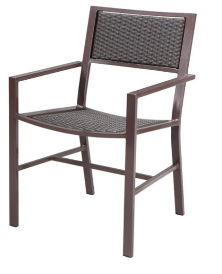 Outdoor Rattan/Wicker Chair in Aluminum Frame (LN-8003)