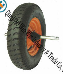 "Wear-Resistant Wheelbarrow Wheels with Axle (16""X480/4.00-8)"